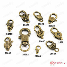 Zinc Alloy Antique Bronze Lobster Clasps Key Chain Clasps Jewelry Findings 25521