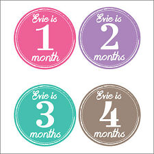 Personalised Monthly Baby Stickers, Milestone Stickers, Baby Shower Gift_G007