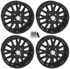 "QuadBoss SCOVILLE BOSS UTV Wheels/Rims Black 14"" (4+3) Polaris RZR 1000 XP (4)"