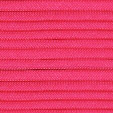 550 Paracord Neon Pink Type III Paracord 10' 20' 50' 100' Hanks & 100' Spools