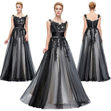 Sexy Vintage Lace Masquerade Long Wedding Evening Dress Cocktail Ball Gown Party