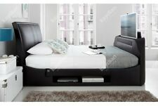 Kaydian Maximus 6FT Superking Size Black Leather Media TV Bed NEXT DAY DELIVERY