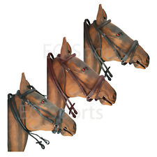 FREE P&P High Quality Imported Leather Comfort Bridle Black & Brown 4 Sizes!!