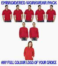 5 Workwear Poloshirts. 2 Sweatshirts 1 Fleece Jacket. FREE EMBROIDERED LOGO!