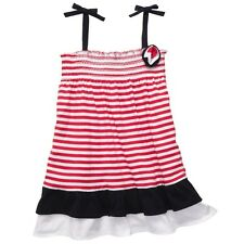 OshKosh Toddler 2T-4T Girls 4 5 Red White Blue Striped Patriotic Summer Dress