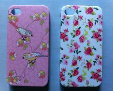 LITTLE BIRDS IPHONE 4/4S CASE COVER SHELL Pretty Pink Vintage Floral Patchwork