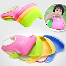 Fashion Baby Infant Kid Silicone Bib Baby Lunch Waterproof Bibs Pick Rice Pocket