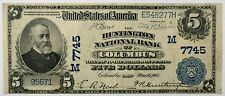 1902 $5 National Currency Huntington National Bank Columbus Ohio CH# 7745- WW
