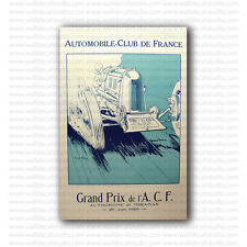 Automobile Club de France Grand Prix 1926 Geo Ham Vintage Racing Repro Poster