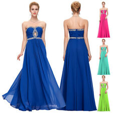 Beading Long Formal Strapless Prom Gown Evening Bridesmaid Party Dress Cocktail