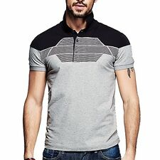 M L XL XXL  Cotton Mens Short Sleeve Polo T-Shirt Slim T- shirt   KPT-1847