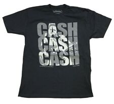 Johnny Cash Triple Cash Middle Finger Classic Rock Country Music Black T-Shirt