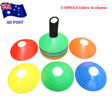 50 Pack Sports Training Discs Markers Cones Soccer Rugby Fitness Exercise BO
