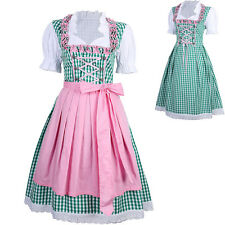 Dirndl Dress Green Ethnic 3 PCS Oktoberfest Bavarian Trachten German Oktoberfest