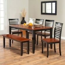 Boraam Bloomington Dining Table Set - Black/Cherry. Free Delivery