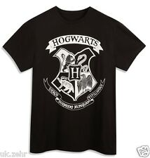 PRIMARK MENS BOYS Black Harry Potter Hogwarts Team T-Shirt Tee Top UK S-XL