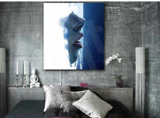 Face in Water Abstract Wall Decor Canvas Art Poster Print