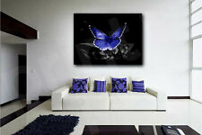 Blue Butterfly Canvas Art Poster Print Home Wall Decor