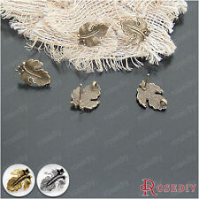 30PCS Alloy Tree leaf Stud Earring Jewelry Findings Accessories 20923
