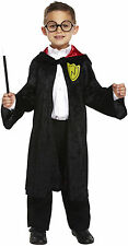 Wizard Boy Harry Potter Style Dressing Up Costume Fancy Dress Robe & Glasses