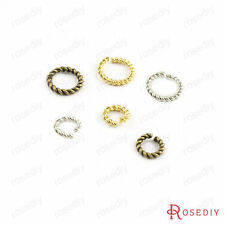 50PCS Brass Twist Jump Rings Split Rings Closed Rings Findings Accessories 27811