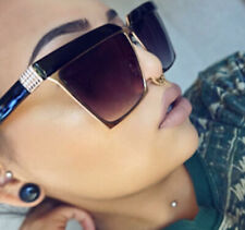Oversized Retro Aviator Wayfarer Flat TOP Brow BAR Large Big Fashion Sunglasses