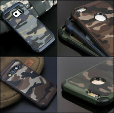 Camouflage Case Galaxy Note 4 Military Army Rugged Camo Rubber + TEMPERED GLASS