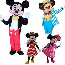 New Mickey and Minnie Mouse Adult size Mascot Costume Party Clothing Fancy Dress