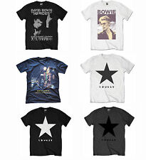 Official David Bowie Rock Music T-Shirt Blackstar Ziggy Heroes Smoking Designs