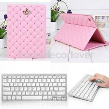 Smart PU Leather Stand Case with Bluetooth 3.0 Wireless Keyboard for iPad Air 2