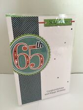 65th Happy Birthday Card Male / Man Friend Or Family ( Sixty five ) Cards 65