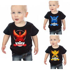 Pokemon Go Kids Cartoon Tops Baby Boys Girls Short Sleeve Summer Tee T-Shirt
