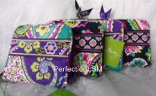 NWT Vera Bradley Compact  Zip Around Wallet in colorful Heather or Petal Paisley