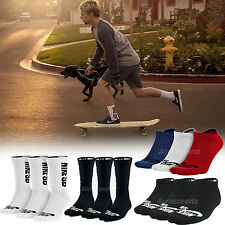 Nike SB Logo Skateboarding 3 Pairs 1 Pack Mens Womens Black White Crew Socks