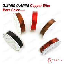 1 Roll 0.3MM 0.4MM Copper Wire Metal Wire Jewelry Findings Accessories 13612