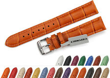 Mens Croco Grain Genuine Leather Watch Band Strap  Women Bracelet 18m TO 22mm