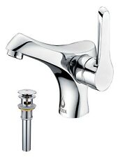 Falcon Single Handle Bathroom Sink Faucet with Drain Assembly in Chrome by Nezza