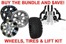 BUY THE BUNDLE AND $AVE! GOLF CART WHEELS, TIRES & JAKE'S LIFT - 01.5+ EZGO TXT