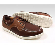 BONFEEL Comfortable Mens GOLF SHOES Heel Cap Outsole Spikeless Brown P00000TA