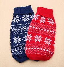 2015 New Cute Pet Dog Sweater Snowflake Puppy Jacket Clothes Pet Apparel XS-XL