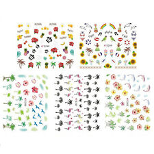 2 Sheet Hot Nail Art Water Transfers Stickers Decals Flamingo Design Decoration