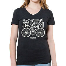 "Bicycle Parts Graphic printed on Women's ""Junior Size"" American Apparel T-shirt"