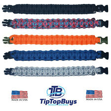 550 Paracord Survival Bracelet Cobra Camping Military Tactical Choose Your Color