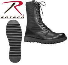 """Jungle Boots 10"""" Black Military Leather Speedlace Ripple Sole Jungle Boots 5050"""