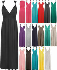 New Womens Sleeveless Ladies Full Length Long Stretch Maxi Dress