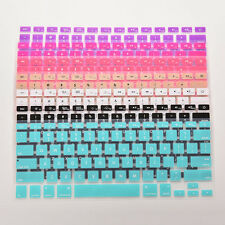 "Rainbow Keyboard Skin Cover For Apple Macbook Air Mac 13""15""17"" Silicone LI"