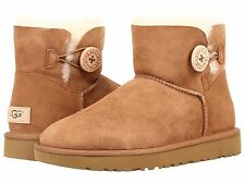 Women's Shoes UGG Mini Bailey Button II Boots 1016422 Chestnut *New*