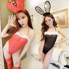 Lady Sexy Lingerie Bunny Costume Women Cosplay Party Fancy Jumpsuit Hot 0068