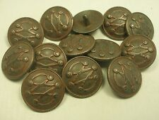 """New Lots of Metal Copper Finish Buttons, sizes 7/8 inch, 13/16, 11/16, 5/8"""" #CP1"""