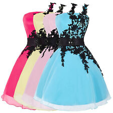 One Shoulder Party Prom Gowns Lace Short Homecoming Cocktail Evening Dresses